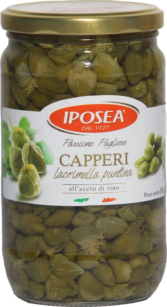 Iposea Каперсы Пунтина Лакримелла в уксусе, 690 г каперсы nestos в бальзамическом уксусе 105 г