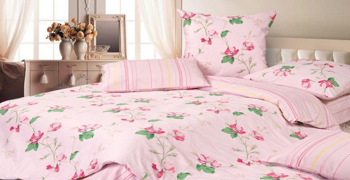 Комплект постельного белья Ecotex Гармоника Аврора, цвет: розовый. СемейныйS03301004Коллекция постельного бельяГармоника от Ecotex — это уникальное сочетание мягкости и нежности благородного сатина со свежестью дизайнерских решений.Коллекция представлена десятками вариантов расцветок, среди которых можно найти как нежные пастельные решения, так и яркие стильные оттенки, паттерны и их оригинальные сочетания. Сатиновая коллекция Гармоника рассчитана на взыскательных потребителей, ценящих стиль, оригинальный дизайн, а также собственный комфорт и нежное прикосновение ткани.