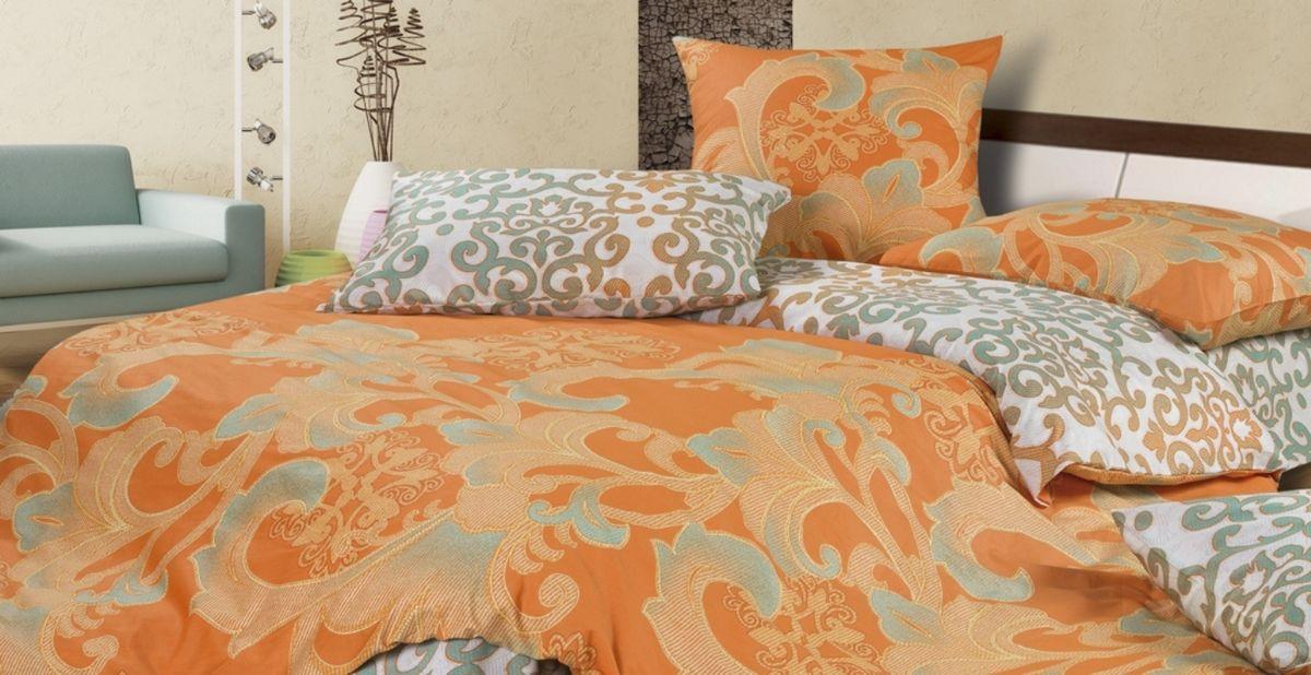 Комплект постельного белья Ecotex Гармоника Баккара, цвет: оранжевый. ЕвроS03301004Коллекция постельного бельяГармоника от Ecotex — это уникальное сочетание мягкости и нежности благородного сатина со свежестью дизайнерских решений.Коллекция представлена десятками вариантов расцветок, среди которых можно найти как нежные пастельные решения, так и яркие стильные оттенки, паттерны и их оригинальные сочетания. Сатиновая коллекция Гармоника рассчитана на взыскательных потребителей, ценящих стиль, оригинальный дизайн, а также собственный комфорт и нежное прикосновение ткани.