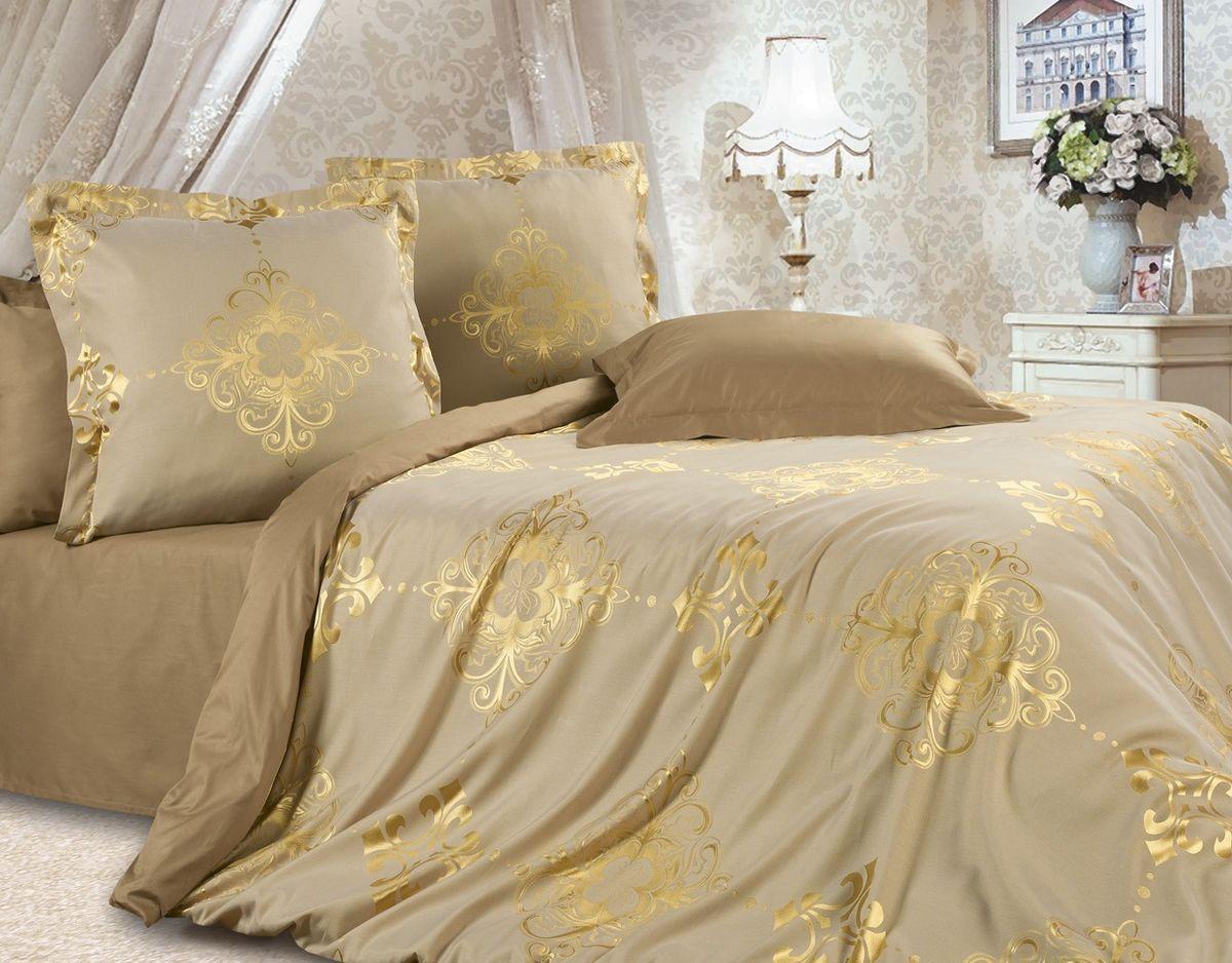 Комплект постельного белья Ecotex Эстетика Богема, цвет: золотой. СемейныйPANTERA SPX-2RSИзысканная коллекция Estetica из жаккардового сатина — это утонченное удовольствие, рожденное неповторимым сочетанием перламутрового блеска и матовой сдержанности.