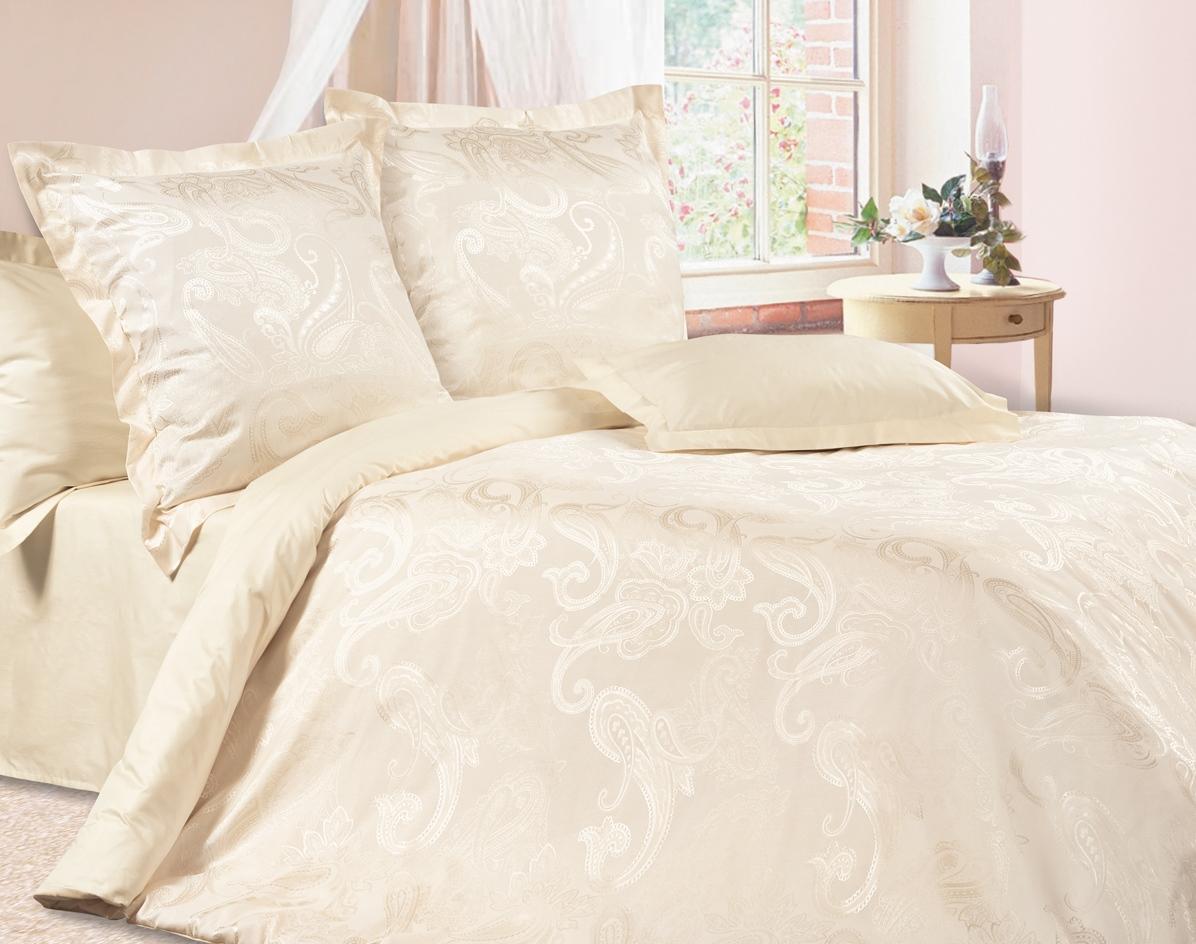 Комплект постельного белья Ecotex Эстетика Жюли, цвет: слоновая кость. 2-х спальный391602Изысканная коллекция Estetica из жаккардового сатина — это утонченное удовольствие, рожденное неповторимым сочетанием перламутрового блеска и матовой сдержанности.