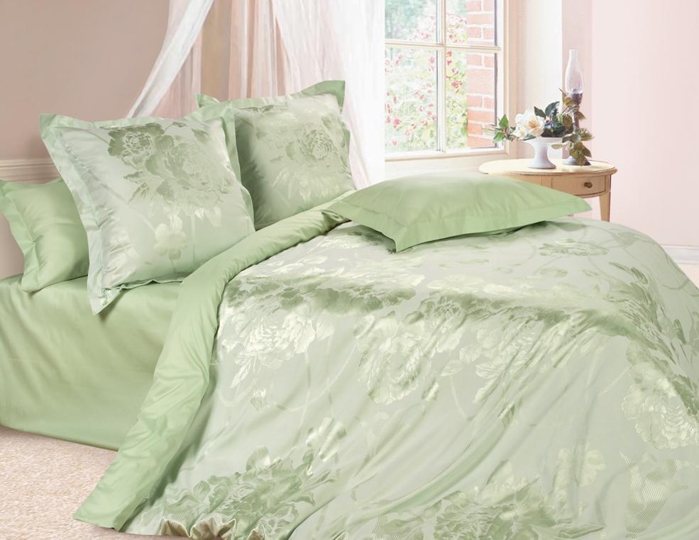 Комплект постельного белья Ecotex Эстетика Оливия, цвет: оливковый. ЕвроS03301004Изысканная коллекция Estetica из жаккардового сатина — это утонченное удовольствие, рожденное неповторимым сочетанием перламутрового блеска и матовой сдержанности.