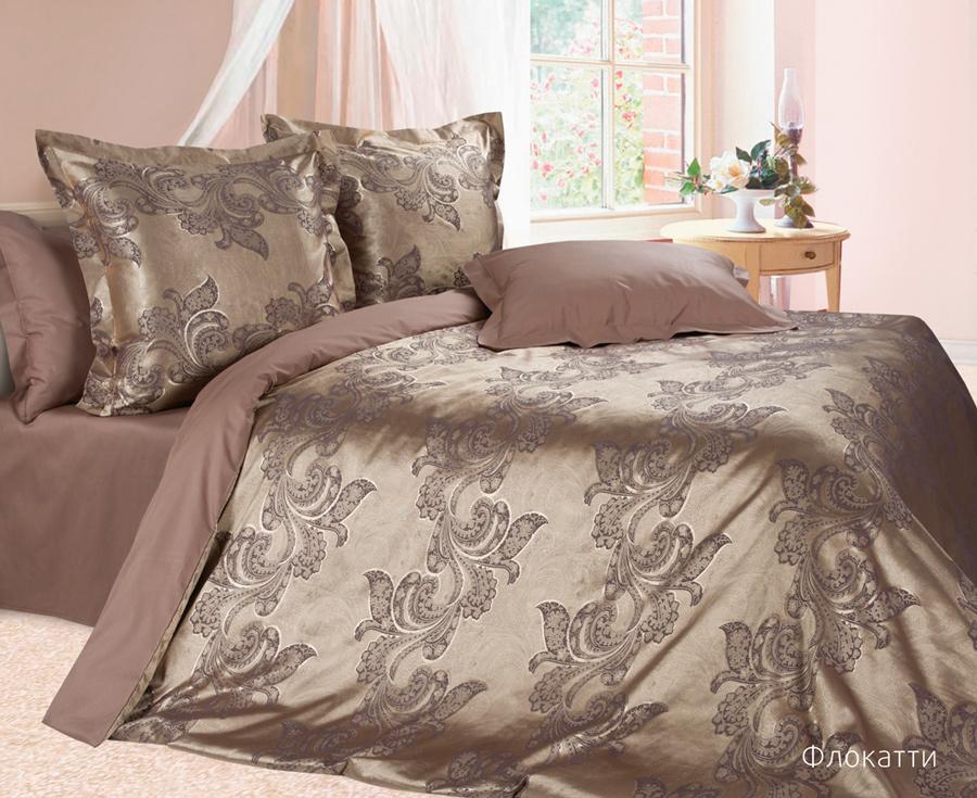 Комплект постельного белья Ecotex Эстетика Флокатти, цвет: шоколадный. 1,5 спальный391602Изысканная коллекция Estetica из жаккардового сатина — это утонченное удовольствие, рожденное неповторимым сочетанием перламутрового блеска и матовой сдержанности.