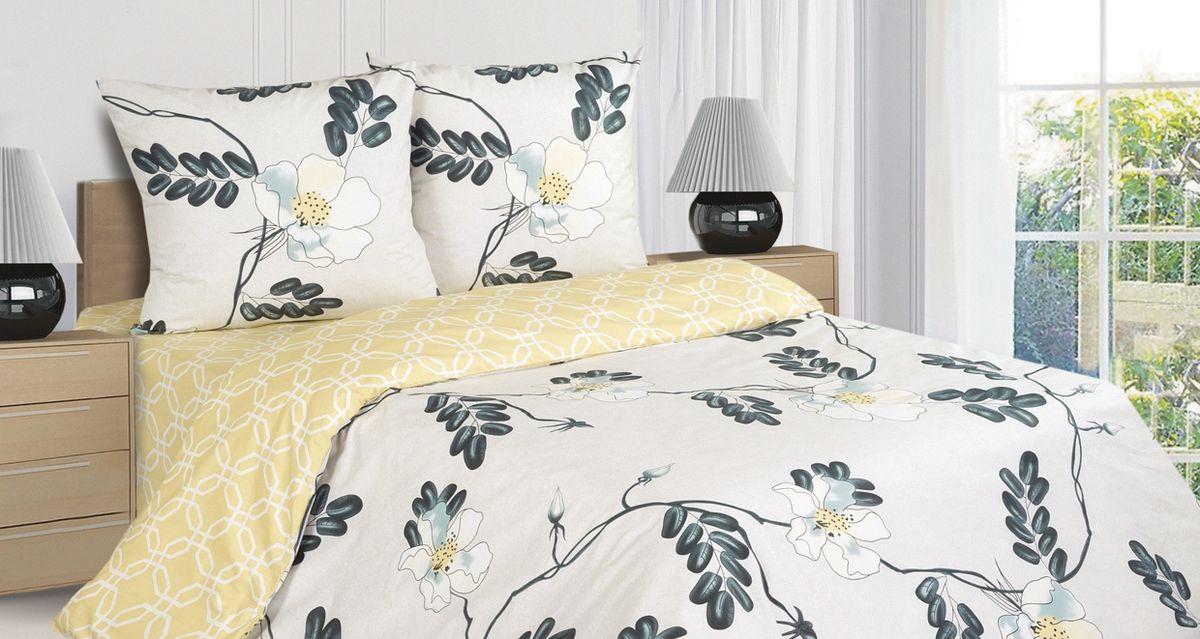 Комплект постельного белья Ecotex Поэтика Виола, цвет: бежевый. Евро391602Высококачественный поплин позволяет коже дышать в течение всей ночи, обладает расслабляющим эффектом. Насладившись полноценным сном, Вы проснетесь наутро с новым зарядом энергии и хорошего настроения.