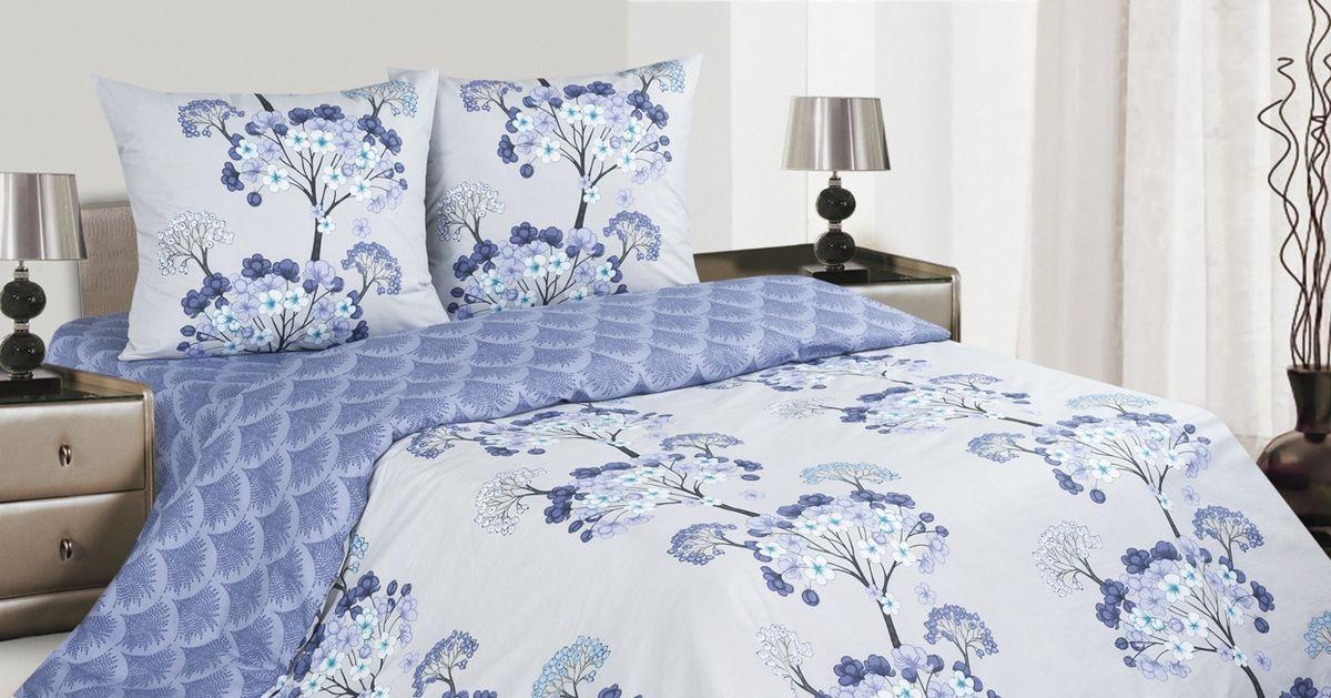 Комплект постельного белья Ecotex Поэтика Лазурь, цвет: фиолетовый. СемейныйVCA-00Высококачественный поплин позволяет коже дышать в течение всей ночи, обладает расслабляющим эффектом. Насладившись полноценным сном, Вы проснетесь наутро с новым зарядом энергии и хорошего настроения.