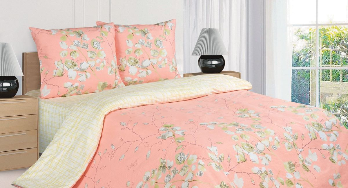 Комплект постельного белья Ecotex Поэтика Альпия, цвет: коралловый. Евро68/5/3Высококачественный поплин позволяет коже дышать в течение всей ночи, обладает расслабляющим эффектом. Насладившись полноценным сном, Вы проснетесь наутро с новым зарядом энергии и хорошего настроения.