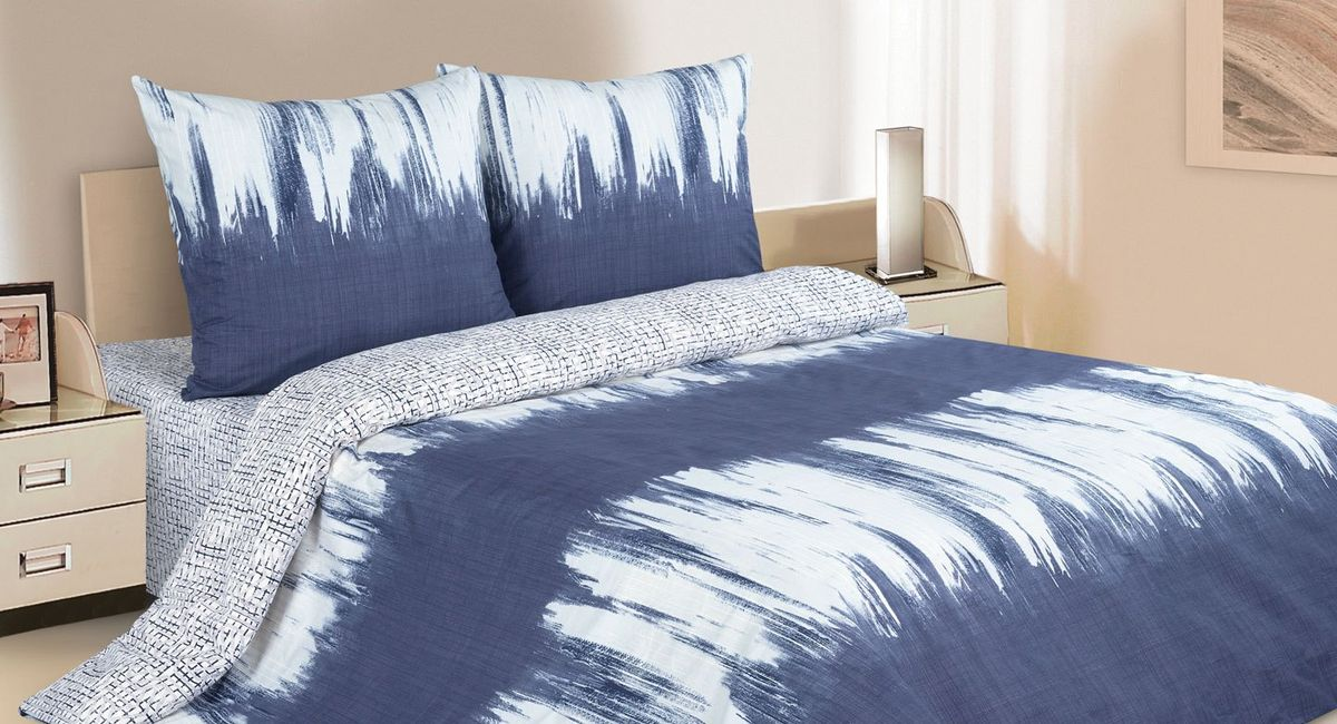 Комплект постельного белья Ecotex Поэтика Кварт, цвет: синий. 1,5 спальныйS03301004Высококачественный поплин позволяет коже дышать в течение всей ночи, обладает расслабляющим эффектом. Насладившись полноценным сном, Вы проснетесь наутро с новым зарядом энергии и хорошего настроения.