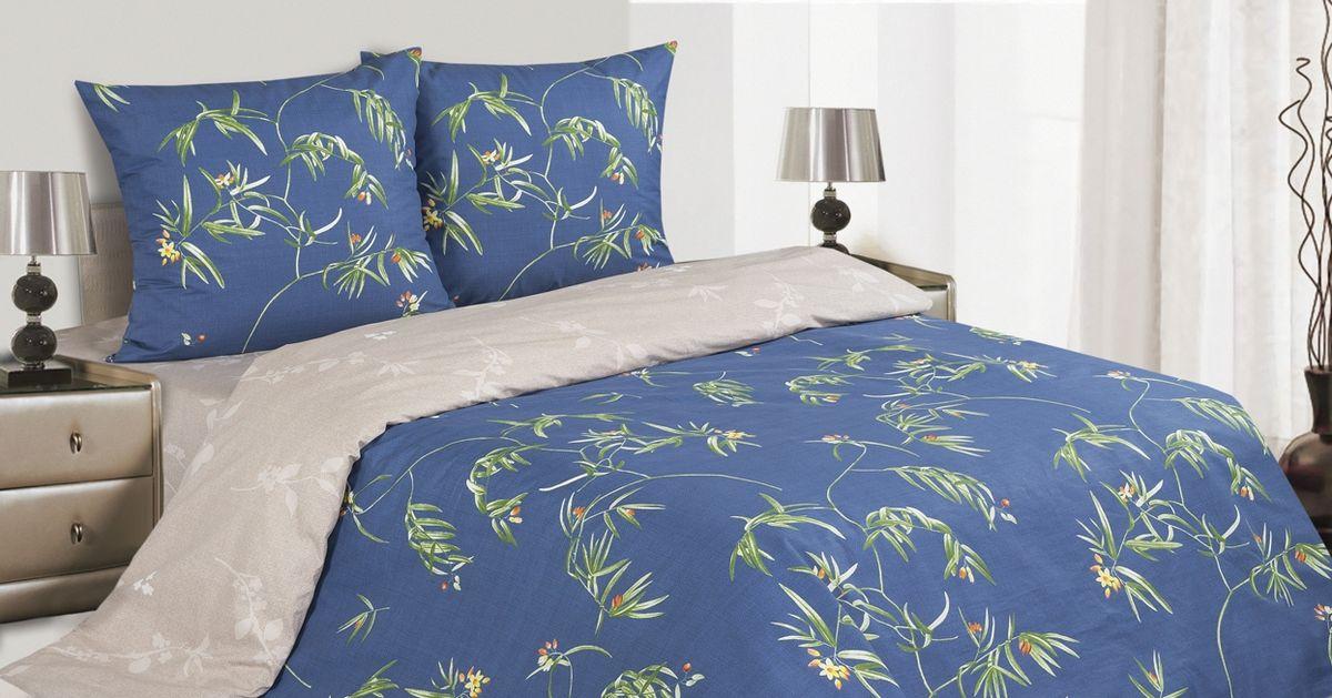 Комплект постельного белья Ecotex Поэтика Филомена, цвет: синий. 2-х спальныйES-412Высококачественный поплин позволяет коже дышать в течение всей ночи, обладает расслабляющим эффектом. Насладившись полноценным сном, Вы проснетесь наутро с новым зарядом энергии и хорошего настроения.
