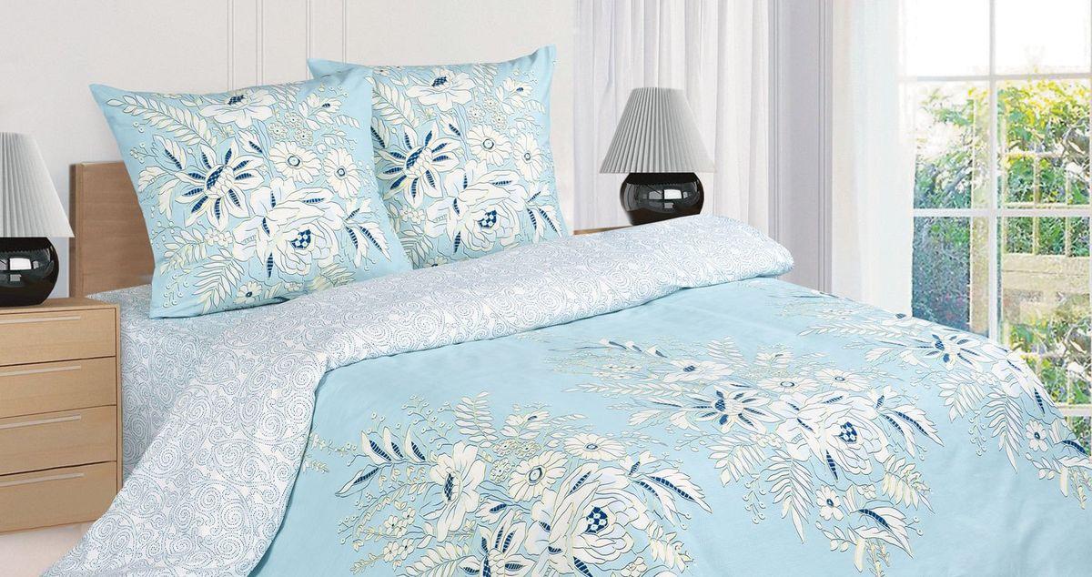 Комплект постельного белья Ecotex Поэтика Сен-Мишель, цвет: голубой. 1,5 спальный391602Высококачественный поплин позволяет коже дышать в течение всей ночи, обладает расслабляющим эффектом. Насладившись полноценным сном, Вы проснетесь наутро с новым зарядом энергии и хорошего настроения.