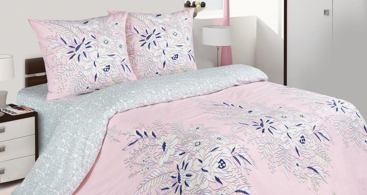 Комплект постельного белья Ecotex Поэтика Булонь, цвет: розовый. 1,5 спальныйBH-UN0502( R)Высококачественный поплин позволяет коже дышать в течение всей ночи, обладает расслабляющим эффектом. Насладившись полноценным сном, Вы проснетесь наутро с новым зарядом энергии и хорошего настроения.