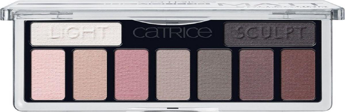 Catrice Тени для век The Modern Matt Collection Eyeshadow Palette 010 матовые, 83 г221765Девять высокопигментированных и стойких оттенков, включая темный матовый для контуринга глаз, а также хайлайтер для расстановки световых акцентов.