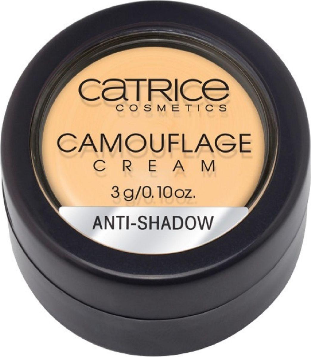 Catrice Консилер Camouflage Cream Anti-Shadow, 14 г6207EМатовый корректор Camouflage Cream нейтрализует и перекрывает любые совершенства кожи. Стойкая текстура и непревзойденные маскирующие свойства в сочетании с мягкой, легко поддающейся растушевке кремовой текстурой, гарантируют безупречный результат: идеально ровный тон кожи без видимых недостатков.