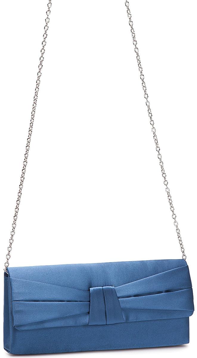 Клатч женский Eleganzza, цвет: темно-синий. ZZ-13486-4BM8434-58AEЖенская сумка-клатч торговой марки ELEGANZZA. Сумка закрывается на магнит. Внутри - одно отделение, в котором есть один открытый карман. Модель имеет наплечный ремень в виде цепочки. Длина наплечного ремня - 115 см.