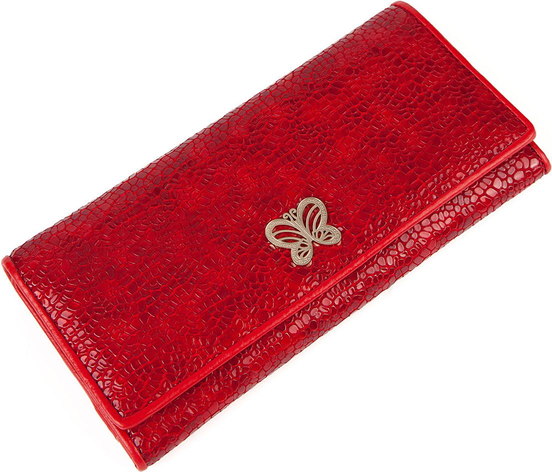 Кошелек женский Labbra, цвет: красный. L053-00201-022_516Кошелек торговый марки LABBRA из натуральной кожи. Модель закрывается на кнопку. Отделение для мелочи находится внутри, имеет 1 отделение и закрывается на металлическую молнию. В кошельке есть 2 не складывающихся отделения для крупных купюр, 11 отделений для кредитных карт и 2 открытых кармана.