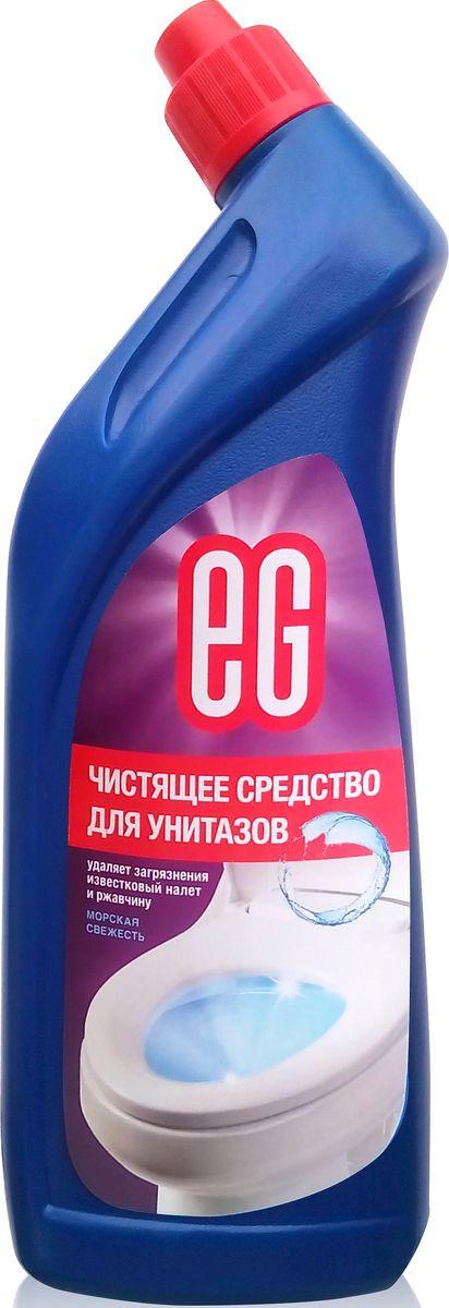 Средство для чистки унитаза EG Еврогарант Морская свежесть, 750 мл391602Морская свежесть. Чистящее средство для унитазов - гель. Удаляет загрязнения, известковый налет и ржавчину, придает блеск. 750 мл