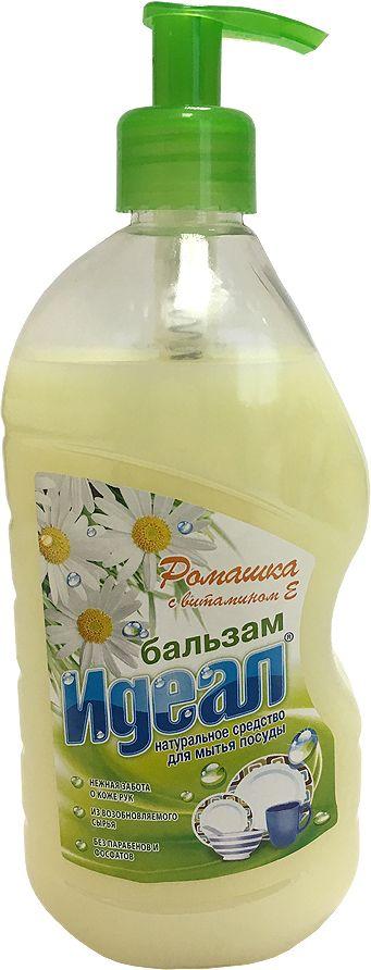 Бальзам для мытья посуды Идеал Ромашка, 500 мл06063Ромашка, бальзам для мытья посуды, защищает кожу рук. Растворяет жир даже в холодной воде. Не оставляет следов и запаха на посуде, легко смывается водой.