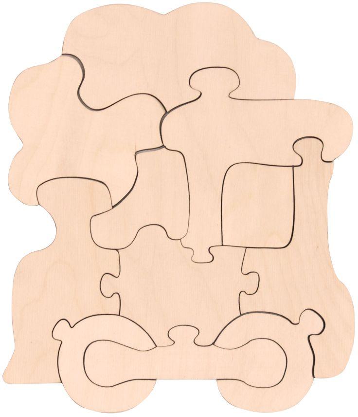 Игрушки Тимбергрупп Пазл-раскраска Паравозик