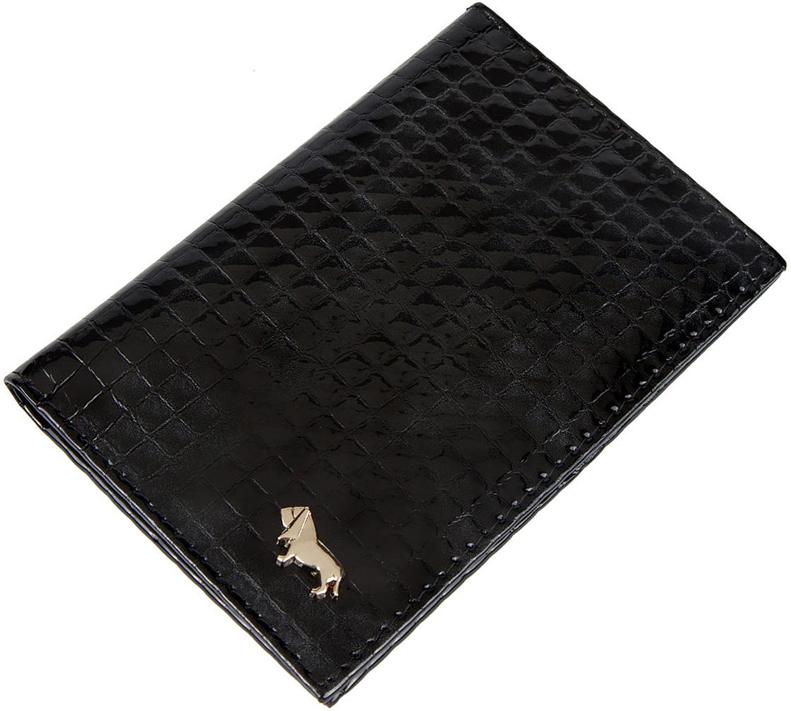Обложка для автодокументов женская Labbra, цвет: черный. L053-1613S8104Обложка для водительских документов торговой марки Labbre выполнена из натуральной лаковой кожи с декоративным тиснением. Внутри вкладыш из прозрачных файлов для автодокументов.