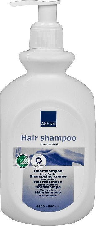 Abena Шампунь для волос без запаха, 500 млFS-00897Шампунь для волос без запаха от Abena для деликатного мытья волос и ухода за кожей головы.Преимущества шампуня для ежедневного использования:- Легко и полностью смывается.- Смягчает волосы и кожу головы.- Подходит для всех типов волос.- Подходит для частого применения.Благодаря мягким моющим ингредиентам, отсутствию красителей и парфюмерных отдушек, он также подойдет для ухода за кожей, склонной к аллергическим реакциям.