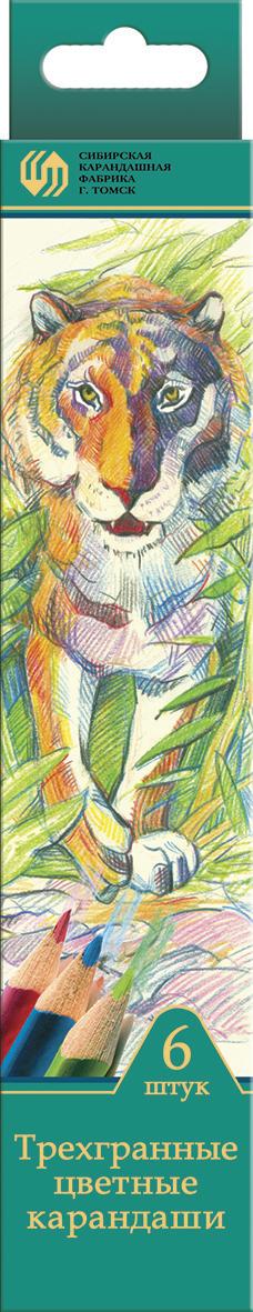СКФ Набор цветных карандашей Сибирский кедр Дикие кошки 6 штСК049/06Карандаши СКФ Дикие кошки сделаны из Сибирского кедра, без какой либо химической обработки. Карандаши с эргономичной формой корпуса помогают маленьким детям быстро и с удовольствием научиться правильно держать карандаш. Карандаши поставляются с заточенным грифелем. Цветные карандаши имеют лаконичные цвета. В наборе 6 карандашей. Карандаши легко затачиваются.С цветными карандашами ваши дети будут создавать яркие и запоминающиеся рисунки.