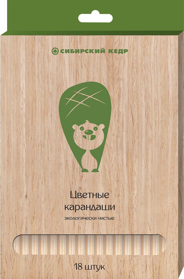 СКФ Набор цветных карандашей Сибирский кедр Eco 18 шт72523WDКарандаши сделаны из Сибирского кедра, без какой либо химической обработки. Активно набирающая популярность тематика ЭКО. Европейский экодизайн, передающий натуральность материалов. Лаконичные цвета.
