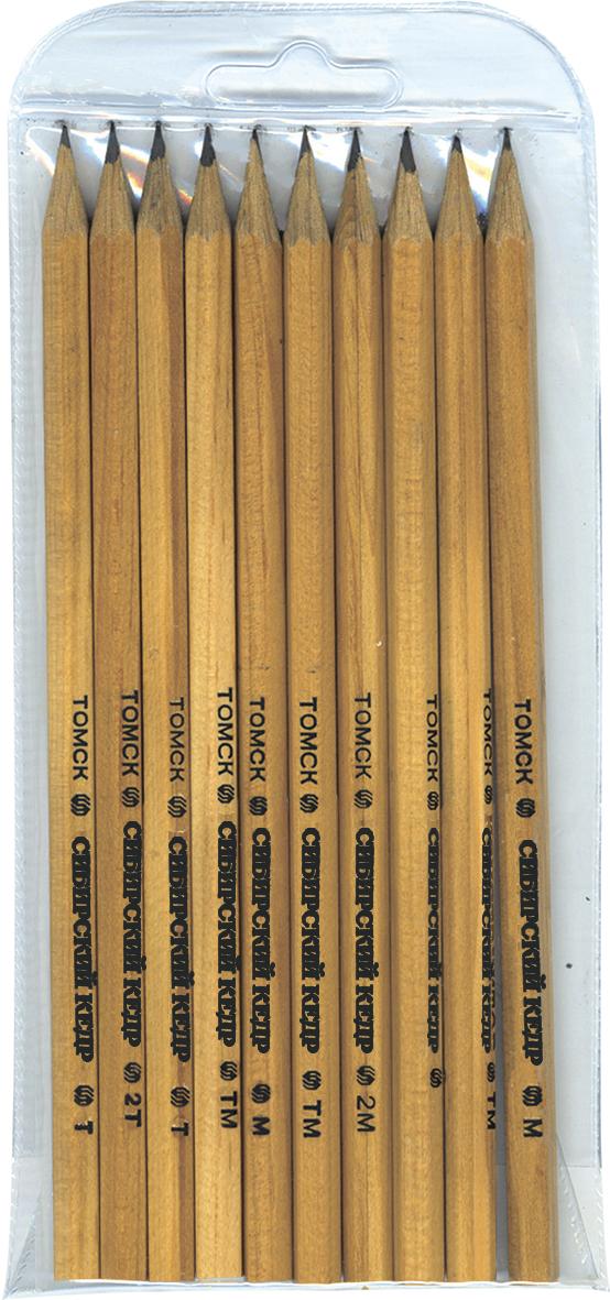 СКФ Набор чернографитных карандашей Сибирский кедр 10 штСК220/10Карандаши сделаны из Сибирского кедра, без какой либо химической обработки.