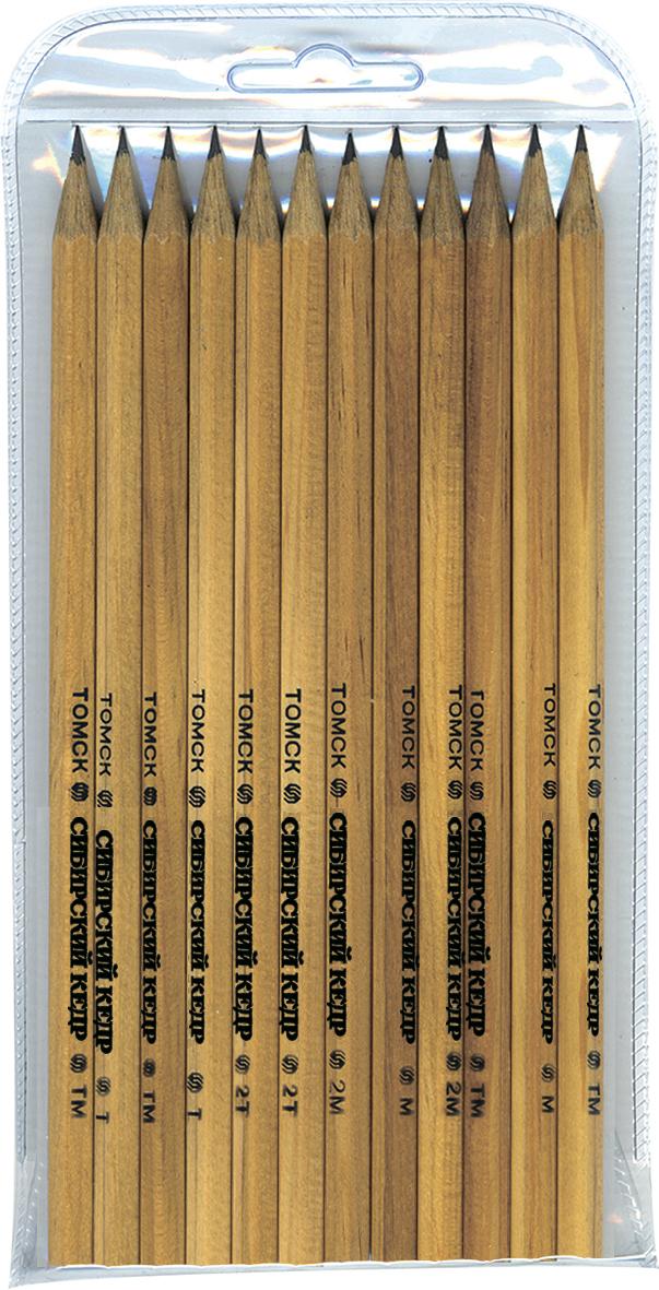 СКФ Набор чернографитных карандашей Сибирский кедр 12 шт72523WDКарандаши сделаны из Сибирского кедра, без какой либо химической обработки.
