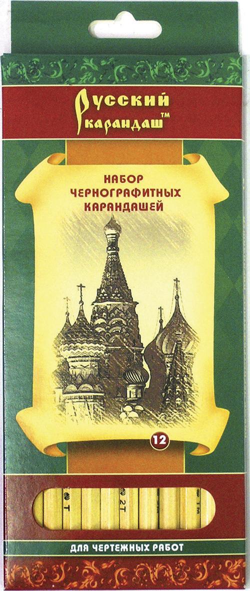 СКФ Набор чернографитных карандашей Русский карандаш 12 штC13S041944Карандаши сделаны из Сибирского кедра, без какой либо химической обработки.