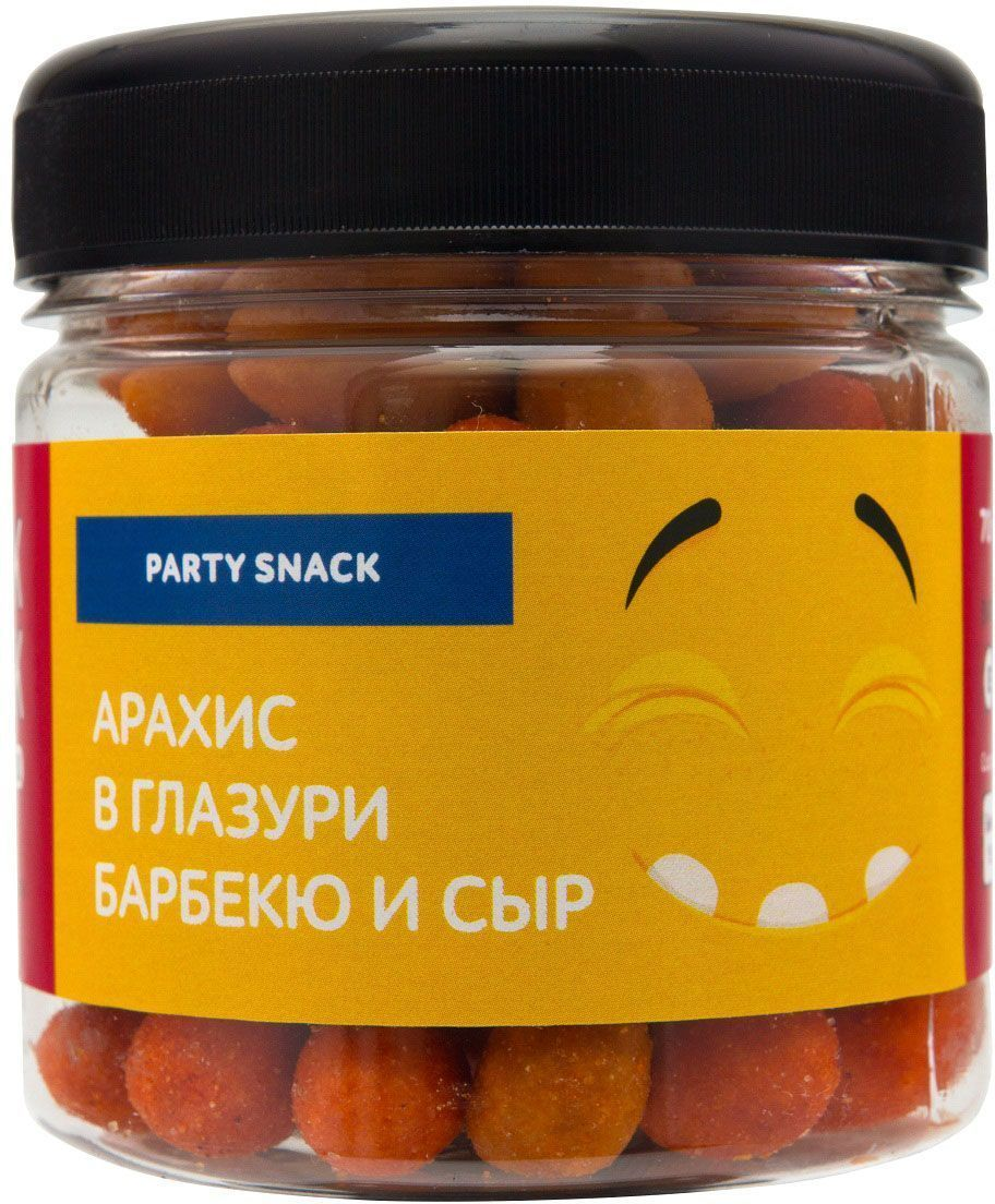 Snack-Snack арахис в глазури барбекю и сыр, 70 г704Взрывной хруст арахиса в глазури барбекю и насыщенный вкус сыра для тех, кто не боится пробовать новое и совмещать безумно вкусное с полезным. Предупреждение: Если вы решили перекусить на занятиях или в компании друзей - будьте осторожны, ведь ваши товарищи обязательно попытаются съесть все до последней крошки!