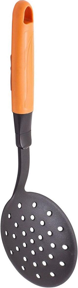 Шумовка MoulinVilla Happy , цвет: оранжевыйFS-91909Шумовка MOULINvilla выполнена из высококачественного пластика. Удобная шумовка займет достойное место среди аксессуаров на вашей кухне. Оригинальный дизайн и качество исполнения не оставят равнодушными ни тех, кто любит готовить, ни опытных профессионалов-поваров.Очень удобная ручка не позволит выскользнуть шумовке из вашей руки, а благодаря небольшому отверстию на ручке можно подвесить изделие на кухне.