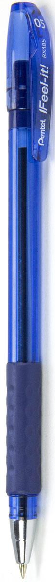 Pentel Ручка шариковая Feel It цвет чернил синий 0,5 ммPBX485-CИдеальная ручка для школьника! Ручка создана специально для комфортного письма.Масляные чернила нового поколения: пишут мягко, ярко, без нажима, цвет чернил - синий. Трехгранная мягкая зона захвата разработана для удобного положения пальцев при письме, предотвращает их скольжение; снижает напряжение и усталость руки при письме. Ручка имеет металлический прочный наконечник, который обеспечивает долговечность ручки при длительном использовании.