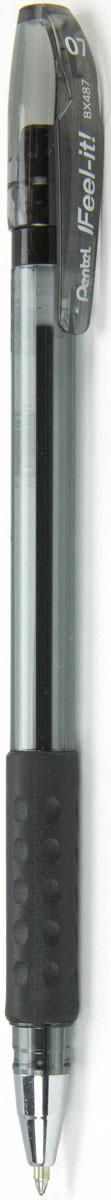 Pentel Ручка шариковая Feel It цвет чернил черный 0,7 мм0102016Идеальная ручка для школьника! Ручка создана специально для комфортного письма.Масляные чернила нового поколения: пишут мягко, ярко, без нажима, цвет чернил - черный. Трехгранная мягкая зона захвата разработана для удобного положения пальцев при письме, предотвращает их скольжение; снижает напряжение и усталость руки при письме. Ручка имеет металлический прочный наконечник, который обеспечивает долговечность ручки при длительном использовании.