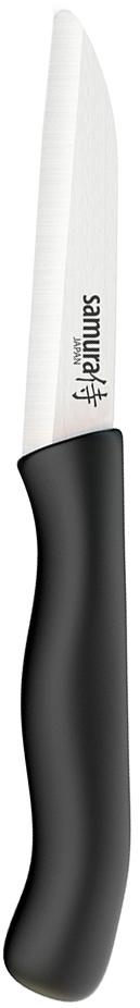 SC-0011BL Фруножик Samura Eco овощной 75 мм с черной рукоятью, циркониевая керамика10108SC-0011BL Фруножик Samura Eco овощной 75 мм с черной рукоятью, циркониевая керамика