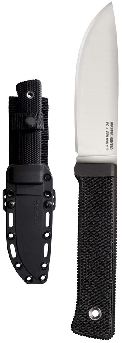Нож Cold Steel Master Hunter, с ножнами, общая длина 37,1 см67742Оригинальный нож модели Master Hunte, выполненный с фиксированным клинком, разработан всемирно известным производителем Cold Steel. Нож оснащен стойкой эргономичной рукоятью из прочного кратона. Клинок с гладкой заточкой изготовлен из высококачественной нержавеющей стали. Модель дополнена небольшими функциональными ножнами.Размер ножа в открытом виде: 23,5 см.Толщина лезвия: 5 мм.