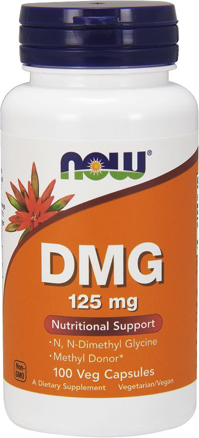 Поддержка нервной системы Now Foods DMG 125mg, 100 капс now foods candida support 90 veg capsules free shipping