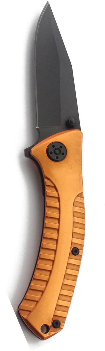 Нож складной Stinger, с клипом, 114,3 мм, цвет: черный, оранжевый. FK-A129 twist