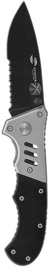 Нож складной Stinger, с клипом, цвет: черный, серебристый, 7,5 см. FK-H152GG нож складной stinger с клипом 114 3 мм цвет черный оранжевый fk a129
