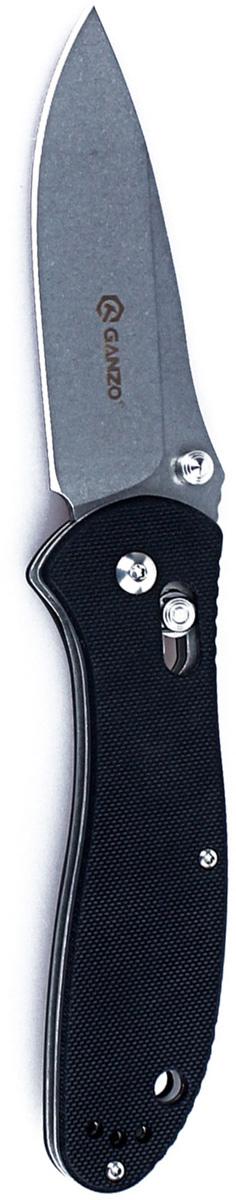 Нож туристический Ganzo, цвет: черный, стальной, длина лезвия 8,6 см. G73925902232611779Нож Ganzo вполне можно назвать универсальной моделью. Он располагает клинком 86 мм из нержавеющей стали и рукояткой со стеклопластиковыми накладками. Подходит такой нож как для туризма, так и для любого вида активного отдыха на природе или в городе.Модель Ganzo подкупает своей универсальностью. Этот нож достаточно прост по конструкции, но прекрасно послужит как на природе, так и в ежедневном использовании в городе. Для него используются материалы, зарекомендовавшие себя высоким качеством. Это сталь 440С с закалкой до 58HRC, которая относится к группе нержавеющих, и стеклопластик G10 с высоким уровнем прочности.Сталь в ноже Ganzo подверглась шлифованию, известному как Stone Wash. Из-за этого, клинок стал практически матовым и не блестит в лучах солнца. Также, на нем практически не видны небольшие царапины. Лезвие - ровное, поскольку заточено по технологии plain. Полная длина клинка равна 86 мм. Прочности лезвия способствует толщина обуха 0,33 см.Основа рукоятки выполнена из металла, но для комфорта пользователя, поверх стали прикручены пластиковые накладки. Они сделаны из материала, известного под маркой G10. Он относится к пластикам, но благодаря композитному строению является гораздо более прочным, нежели другие разновидности пластика.Поскольку Ganzo - складная модель, нож оснащен замком. В данном случае, это Axis - популярный штифтовой механизм. Он хорошо известен долговечностью и надежностью, а потому часто используется в ножах разных брендов.Длина лезвия: 8,6 см.Общая длина ножа: 20,5 см.Вес ножа: 135 г.