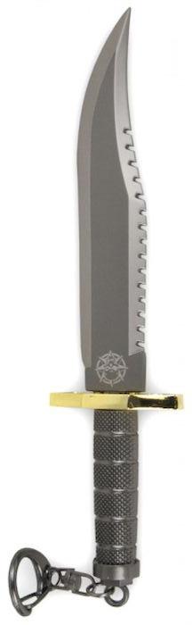 Брелок-стальной нож Ножемир, общая длина 16,3 см. E-204E-204Нож-брелок - стильный необычный аксессуар. Нож изготовлен из металла. Клинок ножа обоюдоострый.