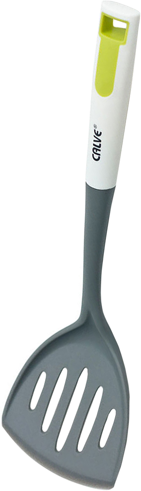Лопатка с прорезями Calve, длина 34,5 см22485Лопатка с прорезями Calve, изготовленная из нейлона, подходит для посуды с антипригарным покрытием. Лопатка выдерживает высокую температуру до 210°С. Удобная прорезиненная рукоятка оснащена отверстием для подвешивания.Практичная и удобная лопатка Calve займет достойное место среди аксессуаров на вашей кухне.Можно мыть в посудомоечной машине.Длина лопатки: 34,5 см.Размер рабочей части лопатки: 11 х 8 см.