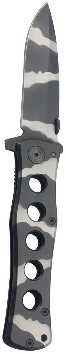Нож складной Stinger, с клипом, 114 мм, цвет: камуфляж. FK-S026FK-S026Складные ножи Stinger изготовлены из нержавеющей стали, прочных пород древесины и различных полимеров. Ножи выполнены в современном, военном и классических стилях. Они будут отличным подарком для рыбака, охотника, спортсмена или человека, который центи отдых на природе. Нож складной Stinger, 114 мм, лезвие и рукоять из нержавеющей стали, с клипом, камуфляж, в подарочной коробке.