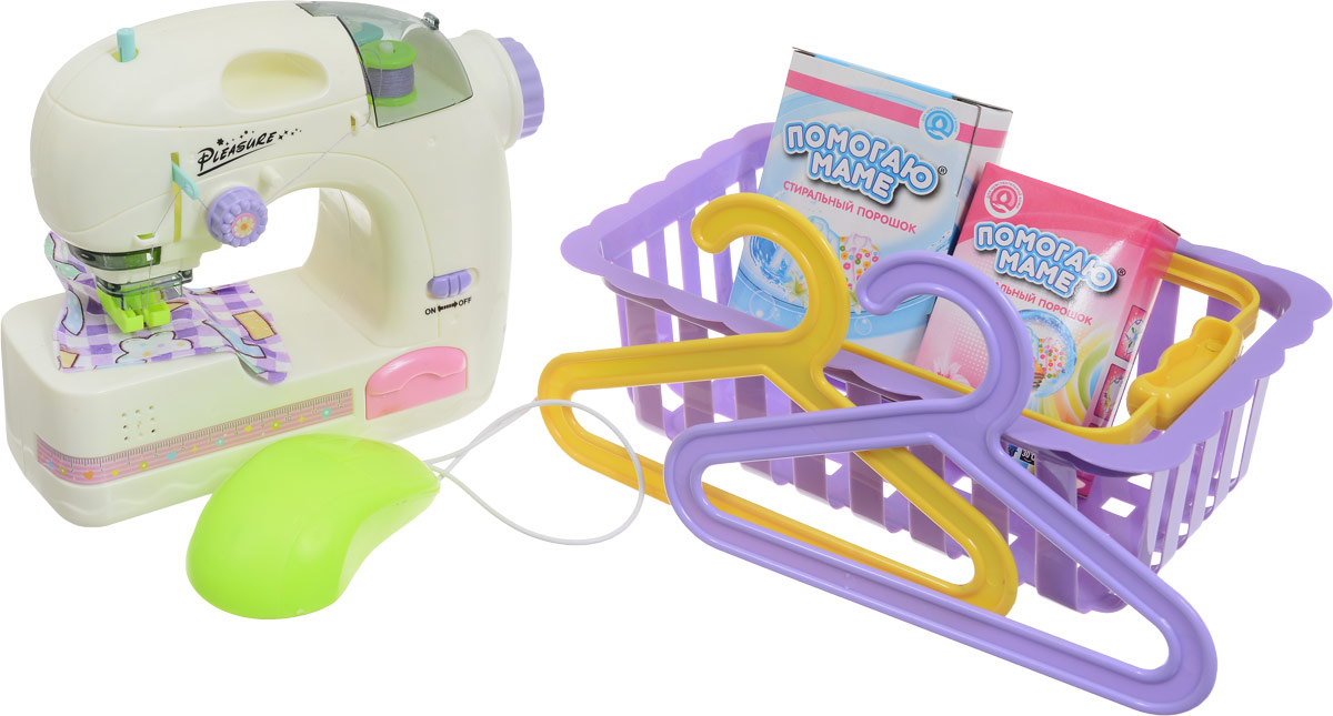 ABtoys Игровой набор Швейная машинка цвет молочный