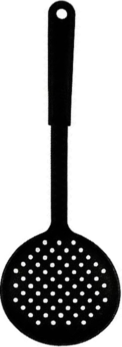 Шумовка Tescoma Space Line. 63802068/5/3Шумовка Tescoma Space Line выполнена из жароупорного материала. Очень удобная ручка не позволит выскользнуть шумовке из вашей руки, а благодаря небольшому ушку можно повесить изделие на кухне. Удобная, большая, плоская ложка поможет Вам без особого труда снять пену, вынуть из кастрюли мясо или рыбу.Характеристики:Материал:пластмасса.Длина (с ручкой):32 см.Производитель: Чехия.Артикул:638020.