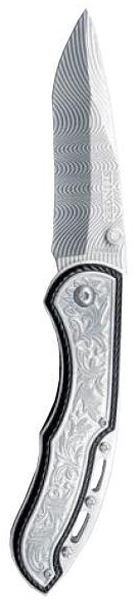Нож складной Stinger LK-3250BFL, цвет: серебристый, 7,8 см6909999306824Складной нож Stinger LK-3250 BFL благодаря акульему плавнику и шпыньку на лезвии можно открывать одной рукой. В открытом состоянии нож фиксируется, что значительно повышает травмобезопасность. Его можно носить в кармане, надежно закрепив с помощью клипсы. У ножа очень интересная имитация дамасской стали на клинке. Рукоятка профилирована и имеет боковые накладки, повышающие надежность и удобство хвата. Данный складной нож сертифицирован и не является холодным оружием. Характеристики: Материал: металл, пластик. Длина лезвия: 7,8 см. Размер ножа в сложенном виде: 11,5 см х 3,5 см х 2 см. Размер в упаковке: 14,5 см х 6,5 см х 2,5 см.
