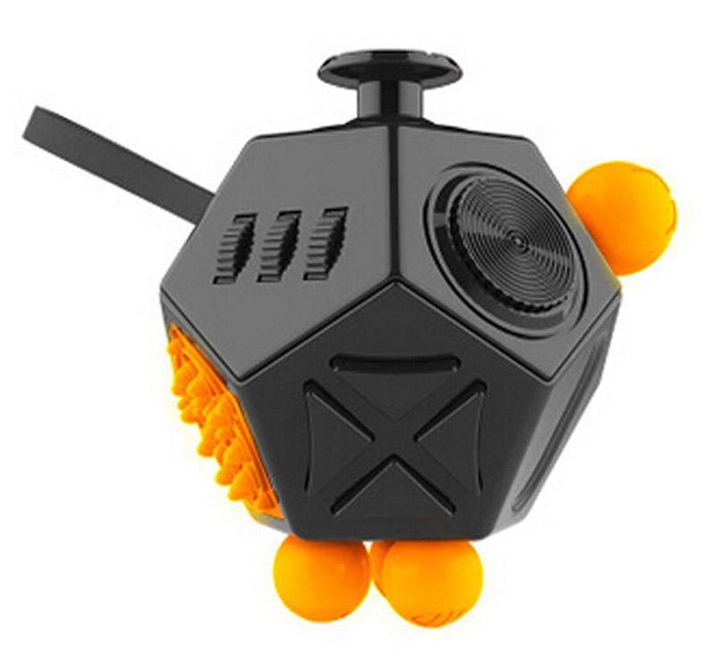 Fidget Cube 2.0 Игрушка-антистресс цвет черный оранжевый - Развлекательные игрушки