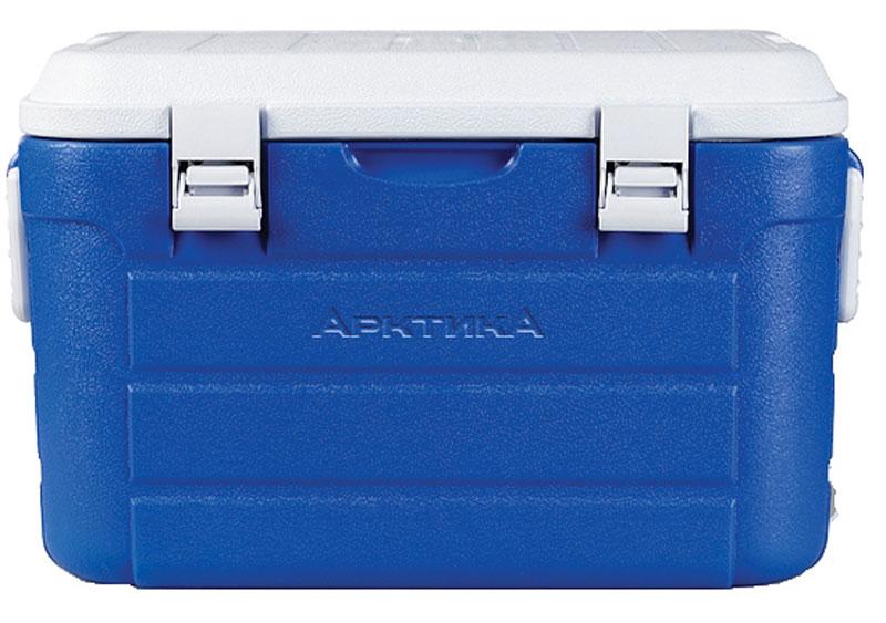 Изотермический контейнер Арктика, цвет: синий, белый, 30 лAS 25Изотермический контейнер с высокой степенью термоизоляции - преданный спутник для настоящего охотника, рыбака и любителя дальних поездок. Универсальная герметичная вещь, которая пригодится, когда необходимо сохранить температуру еды и напитков длительное время. К тому же, изделие имеет жесткую конструкцию, что позволяет использовать термоконтейнеры больших объемов как стул или стол, а также можно ставить тяжести сверху. Рекомендуется использовать вместе с аккумуляторами холода из расчета 10% от объема термоконтейнера.