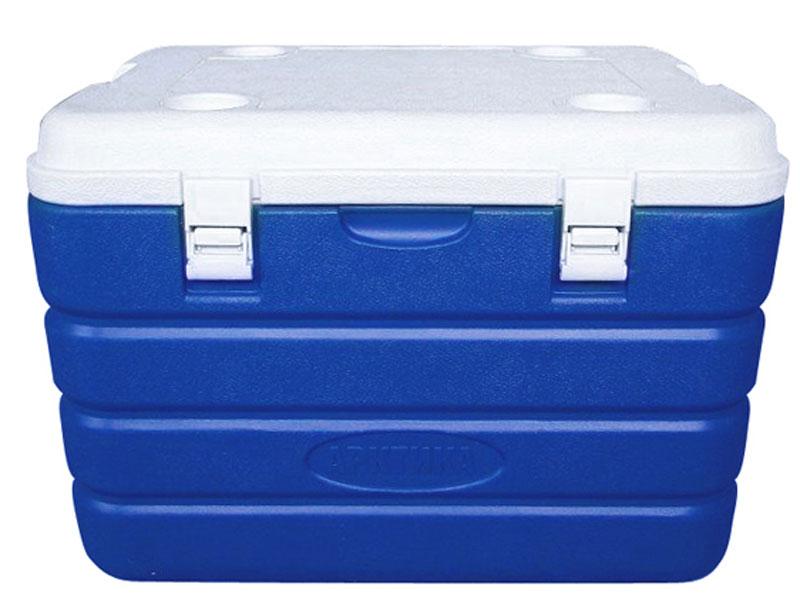 Изотермический контейнер Арктика, цвет: синий, белый, 60 л19201Изотермический контейнер с высокой степенью термоизоляции - преданный спутник для настоящего охотника, рыбака и любителя дальних поездок. Универсальная герметичная вещь, которая пригодится, когда необходимо сохранить температуру еды и напитков длительное время. К тому же, изделие имеет жесткую конструкцию, что позволяет использовать термоконтейнеры больших объемов как стул или стол, а также можно ставить тяжести сверху. Рекомендуется использовать вместе с аккумуляторами холода из расчета 10% от объема термоконтейнера.