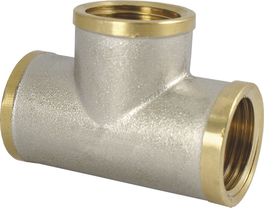 Тройник Smart NS, резьба: внутренняя-внутренняя, 1/2BL505Тройник SMART NS 1/2 - это резьбовая соединительная деталь, которая используется для создания разъемных резьбовых соединений на трубопроводах холодного питьевого, хозяйственного и горячего водоснабжения, отопления, сжатого воздуха и на технологических трубопроводах, транспортирующих газы и жидкости, неагрессивные к материалу соединителей.Нормативный срок службы: 30 лет.Максимальная рабочая температура: +200°С.Максимальное рабочее давление: 40 бар.