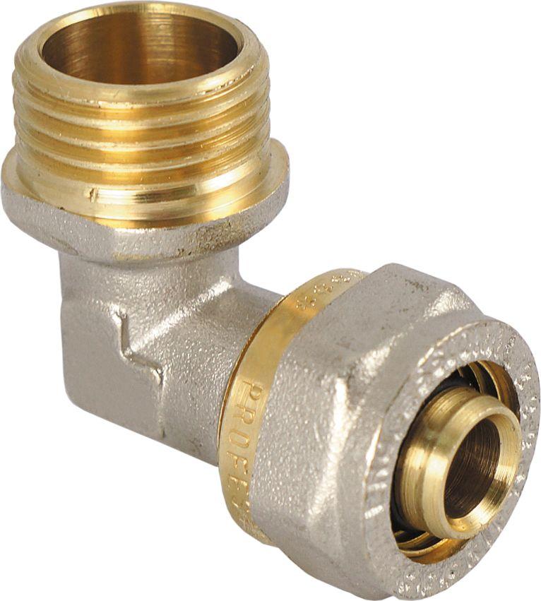 RVC Угольник 20х3/4 ц/ш RC68/5/4Угольник предназначен для соединения металлопластиковых труб. При установке данного фитинга не требуется специальное оборудование, достаточно разводного ключа. Соединение получается разъемным, что позволяет при необходимости произвести обслуживание участка трубопровода. Для обслуживания самого фитинга достаточно сменить уплотнительные кольца. Рабочая температура до 95 С, нормативное рабочее давление до 10 бар. Материал корпуса - никелированная латунь CW617N.