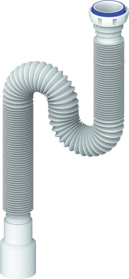 Unicorn Гибкая труба универсальная 1200 мм 1.1/2х40/50. D125BL505Гибкое соединение 1200 мм диаметр 40 х 40/50- с гайкой 1 1/2 (диаметр 40)- с уплотнительным кольцомПрименение- гофра для соединения узлов